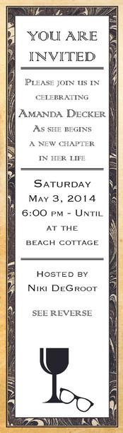 Bachelorette Party Bookmark Invite Side1