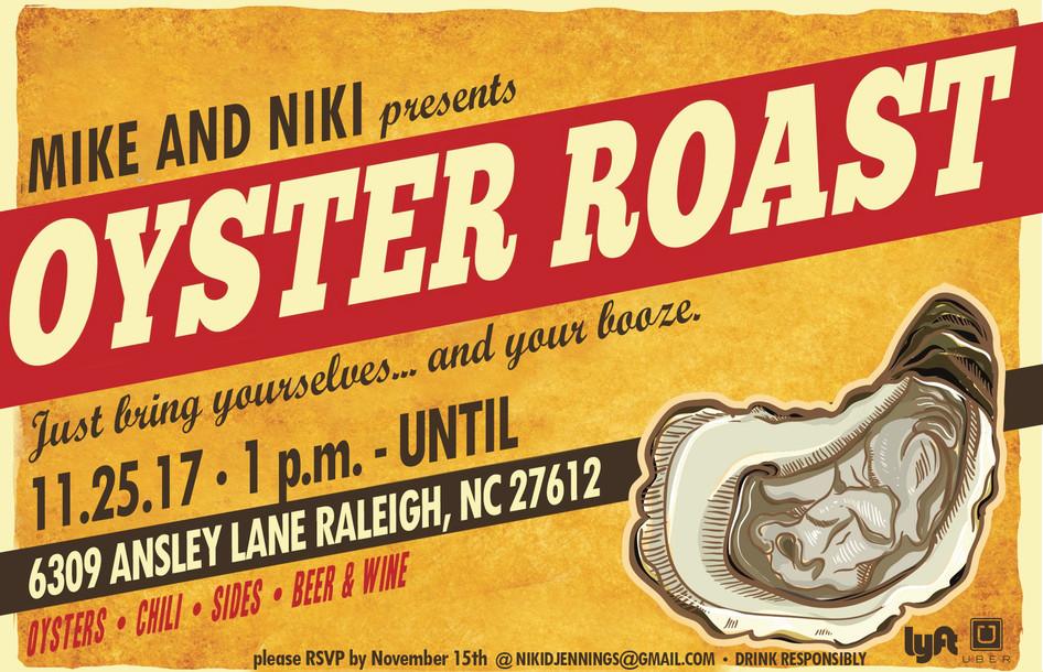 Oyster Roast Invitation