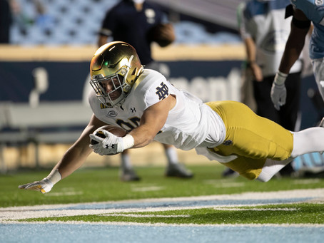 ND Football: The Irish Defense Was The Squad Laying Tar Not UNC