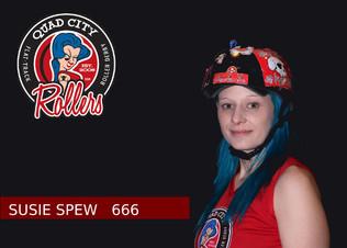 Derby name: Susie Spew  Derby number: 666