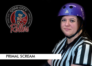 """Derby name: Primal Scream  Derby Number: I'm a ref now so I don't use my skater number anymore.   Reason behind name and number: I'm a huge Motley Crue fan and this song has always spoken to me, specifically the line """"if you want to live life on your own terms, you gotta be willing to crash and burn"""" - fitting for life on and off skates.   Job outside of derby: I'm a Quality Assurance Manager in the medical coding auditing and clinical documentation improvement field. I am also an Adjunct Instructor at Scott Community College teaching ICD-10-PCS and Clinical Documentation Improvement to future HIM professionals.   Favorite food: Macaroni and Cheese   Favorite drink: Diet Mountain Dew   When did you start playing derby? 12/18/2014  What made you start playing derby?  I was feeling on top of the world and like nothing could stop me after a 75 lb weight loss. I saw a friend tag a skater in a derby meme on Facebook and I was like """"Why can't I do this too?""""   What has been your greatest accomplishment so far in derby?  Putting my skates back on and getting back in the game after my injury. It took me a long time to do it, but one of the things derby has taught me is if you want it badly enough, be patient and don't give up. There is no set schedule or timeline, do what you can when you can.  If you could tell yourself one thing when you started playing, what would it be?  You are stronger than you think and yes, the cliché is true...practice makes perfect."""