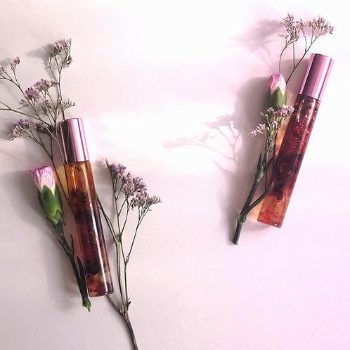 huile pour lèvres peach marshmallow infusée aux fleurs