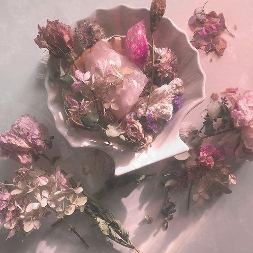 jardin pittoresque : pot-pourri thérapeutique de fleurs séchées