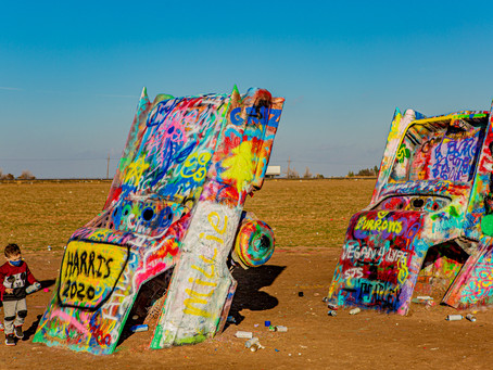Everyone's an Artist at Cadillac Ranch