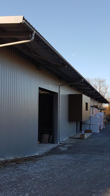 L'extérieur de l'atelier