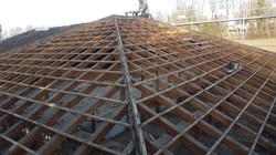 démontage du vieux toit
