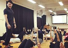 小田原東高校成人学級にお邪魔しました。_今回は姿勢のお話し。生徒も沢山参加してく