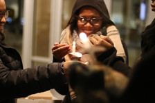 Utah State University's Black Student Union organizes a Candle lit vigil in honor of Martin Luther King Jr. day on January 16, 2017.