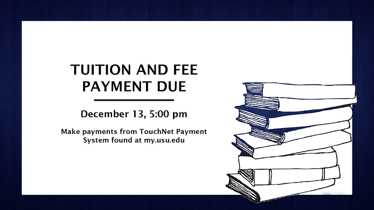 campus screen educational tuition payment advertisement