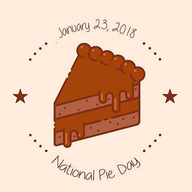 national pie day, national pie day graphic, national holiday graphic, random holiday, random holiday graphic, january random holiday