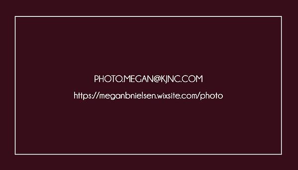 Megan Beth Media Concert Photograper business card