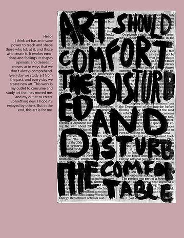 Collage, photosop, art speas volumes, art speaks volumes zine, magazine sample, photoshop, graphic design