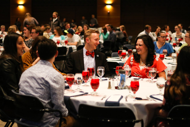 Seniors at Utah State University gather in the TSC Ballroom on Utah State University's Campus to celebrate their achievements and graduation.