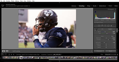 Lightroom color correction example