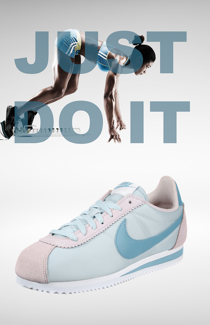 Just Do It Nike promotional poster/ advertisement.