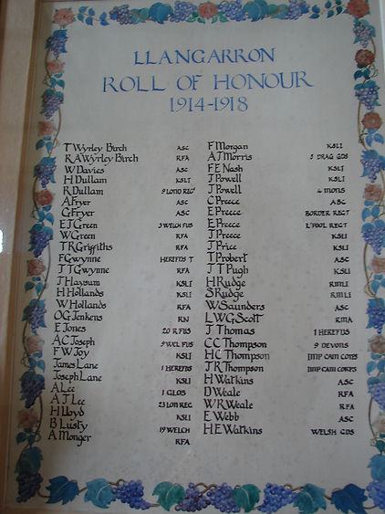 Llangarron Roll of Honour.jpg