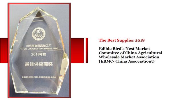 THE BEST SUPPLIER 2018 EBMC
