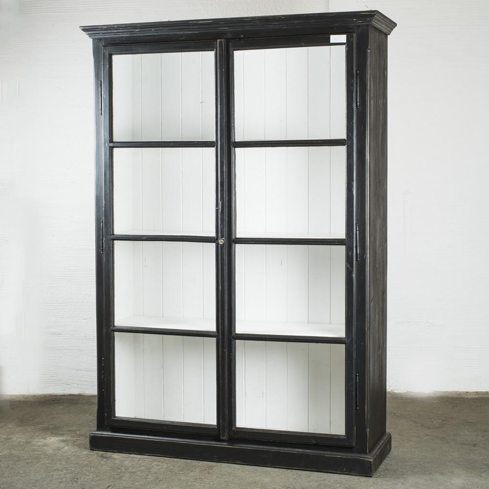 vetrina nera 143x47xh206