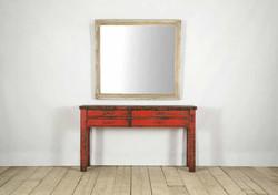 Specchio FIRENZE in legno anticato | 130x120 cm