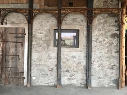 antico pergolato_decorazione 11 mezze colonne h. 240 cm 6 doppi archi da cm