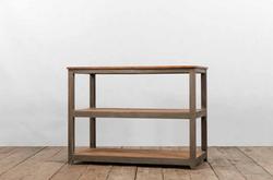 Console ELBA in legno anticato dipinto a mano e assi di recupero | 120x60xh90 cm