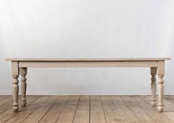 Tavolo SIENA in legno modanato e assi di recupero grigio anticato | 304x90xh77 cm | 250x90xh77 cm