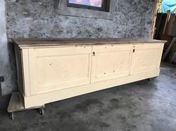 vecchio bancone legno beige
