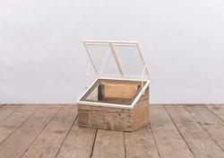 Semenzaio SAVONA in ferro, vetro e legno | 35x50xh40 cm