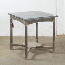 tavolo con piano in marmo H68 B66 D66