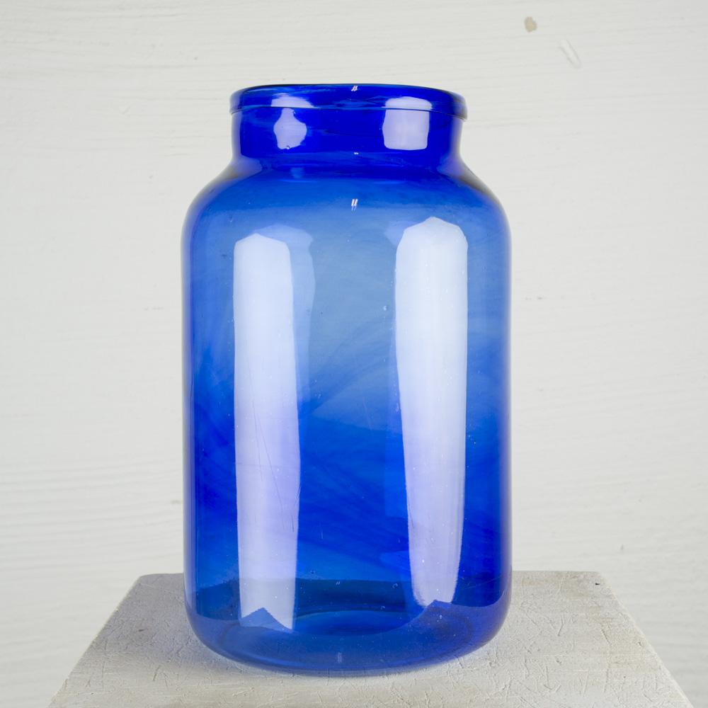 vaso vetro blu XL H41,5cm Ø23,5cm
