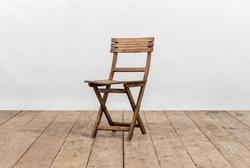 Sedia SALINA in doghe di legno | 40x40xh45 cm