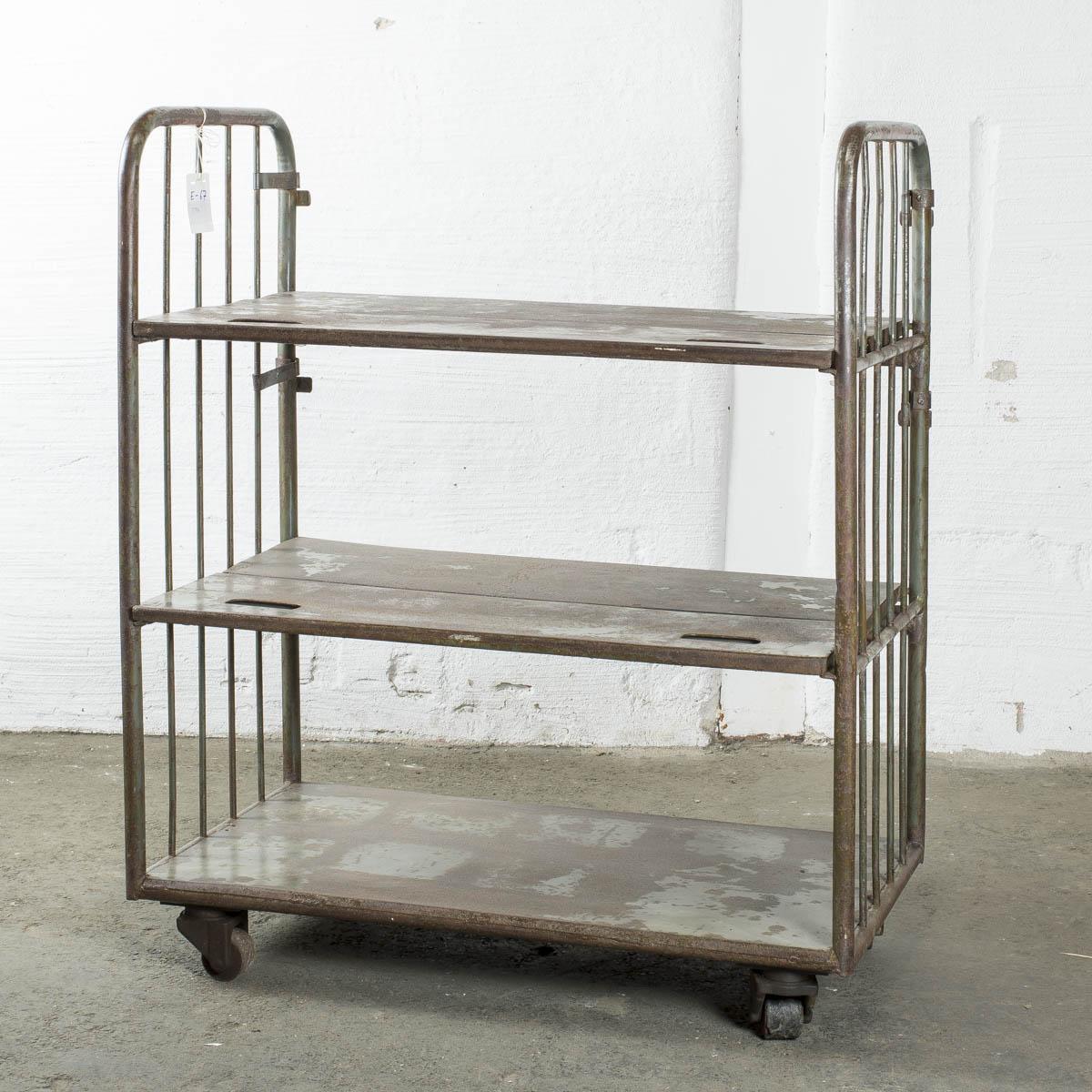 trolley in metallo H122 B100 D51
