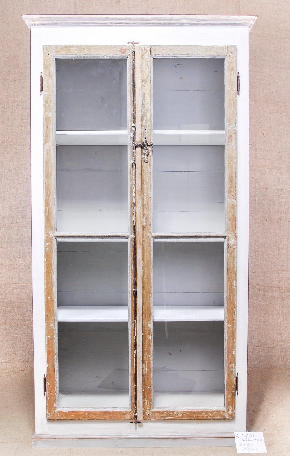 vetrina libreria 121x43,5xh 206 cm