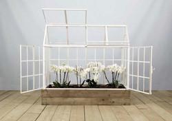 Serra IMPERIA in ferro, vetro e legno | 85x160xh150 cm