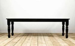 Tavolo SIENA in legno modanato e assi di recupero nero | 304x90xh77 cm | 250x90xh77 cm