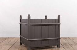 Vasca GARDA in ferro e legno | produzione su misura (standard 90x90xh90 cm)
