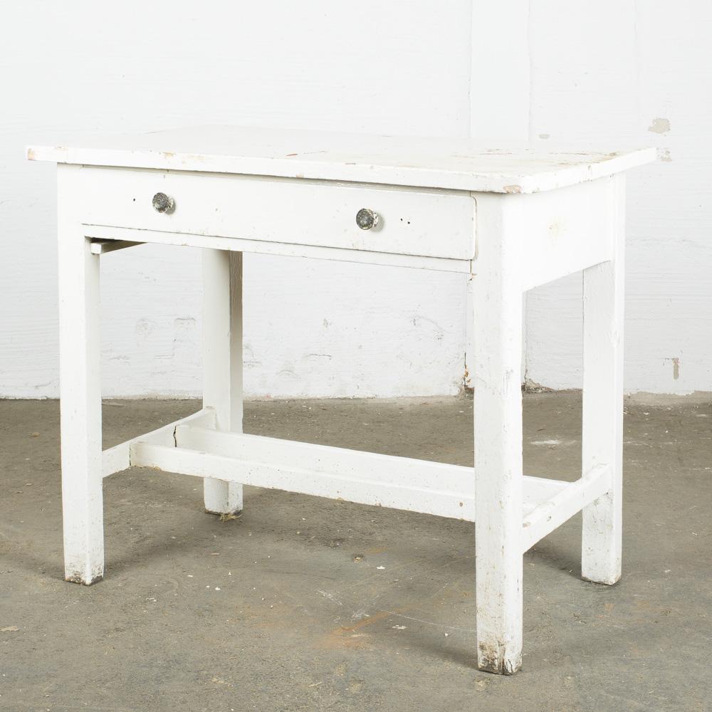 piccola console bianca cassetto_h81x98x58