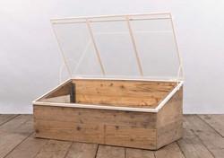 Semenzaio GENOVA in ferro, vetro e legno | 60x120xh52 cm