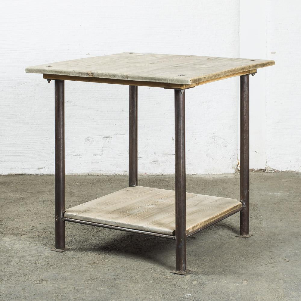 tavolino gambe metallo H80cm B80cm B80cm