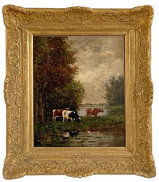 """Léon LEMAITRE  """"Vaches"""""""