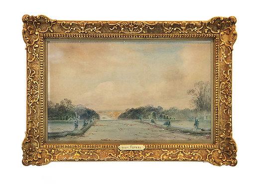 """FOREAU Henri """"Versailles, vue du bassin de Latone"""""""