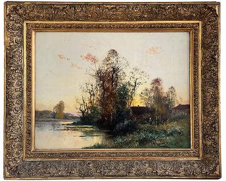 """CLAIR Charles """"Maison près de la rivière"""""""