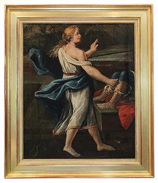 """Ecole Italienne XVIIème """"Femme à l'antique"""""""