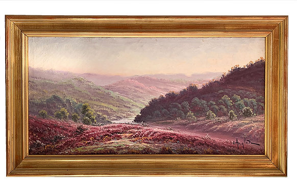 """ANGLADE Gaston """"Paysage aux bruyères"""""""