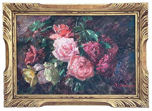 """CHALEYE Jean """"Bouquet de roses"""""""