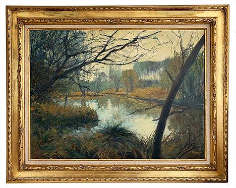 "DIEY Yves ""Paysage de forêt"""