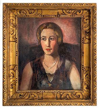 """ORTIZ DE ZARATE Manuel """"Portrait de jeune fille"""""""