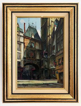 """VIGON Louis """"Le Gros Horloge à Rouen"""""""