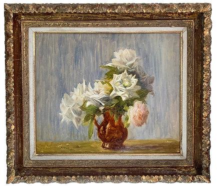 """ORANT Marthe """"Bouquet de roses blanches"""""""