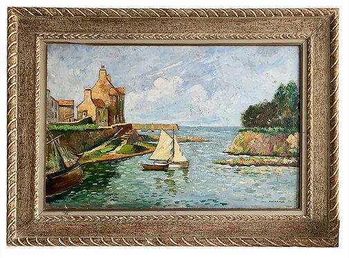 "VERBRUGGHE Charles ""Voilier au port"""